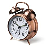 Peakeep 4' Twin Bell Alarm Clock (Red-Brown)