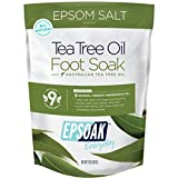 Tea Tree Oil Foot Soak with Epsoak Epsom Salt - 2 POUND (32oz) VALUE BAG - Fight Bacteria, Nail Fungus, Athlete's Foot & Unpleasant Foot Odor; Soften rough calluses & Soothe Tired, Achy Feet