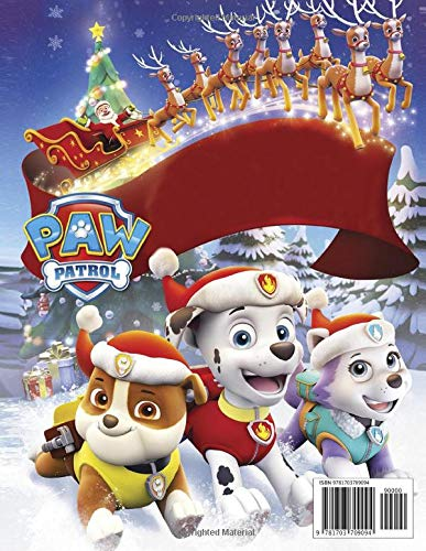 Paw Patrol Coloring Book Over 50 Funny Design About Paw Patrol In Christmas Coloring Books For Kids Ages 4 8 Paul Didier 9781703709094 Amazon Com Books