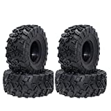 INJORA 4PCS RC 2.2 Inch Truck Tires Good Grip Rubber Tyres Wheel Tires for 1/10 RC Rock Crawler SCX10 Wraith 90056 90045 90031 90020