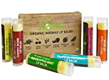 USDA Organic Lip Balm by Sky Organics - 6 Pack Assorted Flavors -- With Beeswax, Coconut Oil, Vitamin E. Best Lip Butter Chapstick for Dry Lips- For Adults and Kids Lip Repair. Made In USA