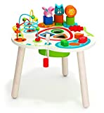 Wooden Activity Table with Bead Maze Cube and Beads Wire for Preschool Toddlers Educational Toys Great Gift for 1,2,3,4,5 Years Old