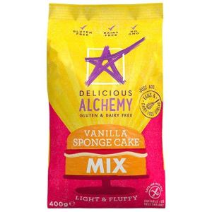 Delicious Alchemy Gluten and Dairy Free Vanilla Sponge Mix 400 g (Pack of 4) 519nYRAjfsL
