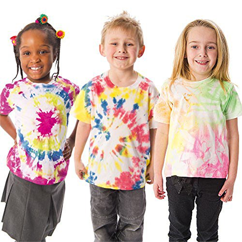 Kids Toddler White Cotton T-shirt for DIY Paint Kid Art and Casual Wear