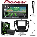 PIONEER AVIC-W8400NEX 7' Navigation AV Receiver, iDatalink Maestro KIT-FOC1 Dash kit for 2012-2018 Ford Focus, ADS-MRR Interface Module and BAA22 Antenna Adapter and a SOTS Lanyard