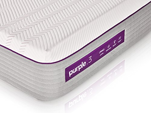 The New Purple Mattress, with Soft 3' Smart Comfort Grid Pad and Cooling Comfort-Stretch Cover (Full)