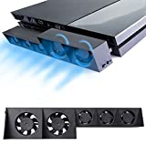 PS4 Turbo Cooling Fan - ElecGear External USB Cooler Auto Temperature Controlled Radiator Sony Playstation 4 Console