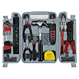 Household Hand Tools, 130 Piece Tool Set by Stalwart, Set Includes - Hammer, Wrench Set, Screwdriver Set, Pliers (Great for DIY Projects)