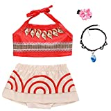 Baby Girls Princess Adventure Bathing Suit Halter Bikini Sets Swimsuit Swimwear Fancy Dress Costume
