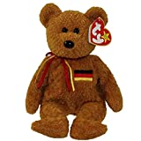 TY Beanie Baby Germania the Bear Tag Written in German with German Flag