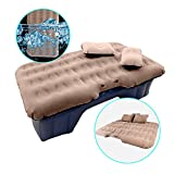 HIRALIY Car Inflatable Mattress Portable Travel Camping Air Bed Foldable Couch with Electric Pump