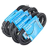 MCSproaudio  XLR CABLE 25FT Low Z Male to Female 3 Pin XLR Mic Microphone Cable, 5 PACK