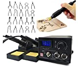 Pyrography Wood Burning Tools, Wood Burning Tools Craft Woodburner Tools Woodburning Pen Point Tips Temperature Control for Wood Leather Gourd Burning Projects