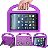 LEDNICEKER Kids Case for Fire 7 2017 - Light Weight Shock Proof Handle Friendly Convertible Stand Kids Case for Fire 7 inch Display Tablet (2017 Release), Purple