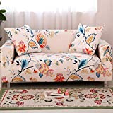 HOTNIU 1-Piece Stretch Sofa Couch Covers - Spandex Printed Loveseat Couch Slipcover - Arm Chair Furniture Cover/Protector One Free Pillowcase (3-Seat Sofa, Pattern #31)