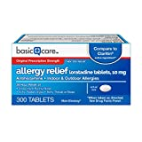 Basic Care Allergy Relief Loratadine Tablets, 300 Count