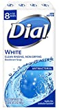 Dial Antibacterial Deodorant Soap, White, 4 Ounce, 8 Bars