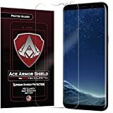 Ace Armor Shield ProTek Guard (2 PACK) CASE FRIENDLY Screen Protector for the Samsung Galaxy S8 + Plus with free lifetime Replacement warranty