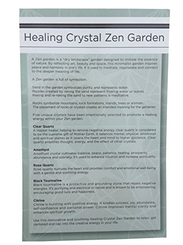 Healing-Crystal-Zen-Garden-with-White-Sand-and-Bamboo-Rake
