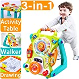 iPlay, iLearn Baby Sit to Stand Walkers Toys, Kids Activity Center, Toddlers Musical Fun Table, Lights 'n Sounds, Learning, Birthday Gift for 6, 9, 12, 18 Month, 1, 2 Year Olds, Infants, Boys, Girls