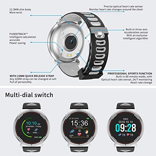 Smart Watch for iOS Android Phones, AIVEILE 2020 Version Activity Fitness Tracker Bluetooth Bracelet Waterproof Smartwatch with Blood Pressure Monitor Compatible Samsung iPhone for Men Women Kids 10