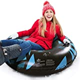 Jasonwell Snow Tube - 47 Inch Inflatable Snow Sled Snow Toys for Kids and Adults Heavy Duty Inflatable Snow Tube Winter Outdoor Toys for Kids and Adults