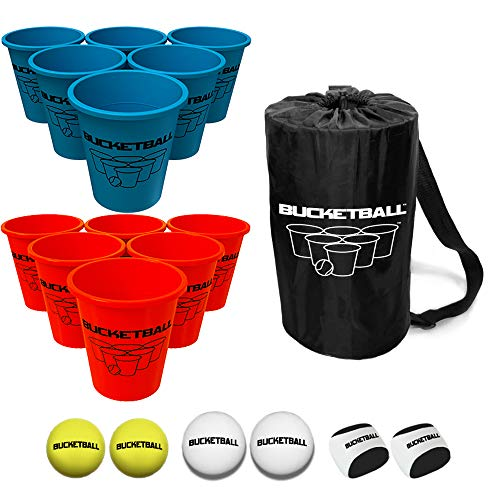 Bucket Ball - Beach Edition Combo Pack - Ultimate Beach, Pool, Yard, Camping, Tailgate, BBQ, Lawn, Water, Indoor, Outdoor Game - Best Gift Toy for Adults, Boys, Girls, Teens, Family
