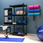 Wallniture-Guru-Wall-Mount-Yoga-Mat-Foam-Roller-and-Towel-Rack-with-3-Hooks-for-Hanging-Yoga-Strap-and-Resistance-Bands-at-Your-Fitness-Class-or-Home-Gym-3-Sectional-Metal