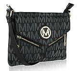 Lynne Multi Pocket Crossbody Messenger Purse Shoulder Bag by Mia K Farrow