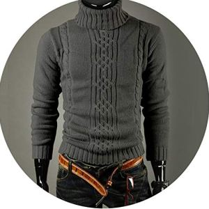 Casual Sweater Men Pullovers Fashion Autumn Winter Knitting Long Sleeve Turtle Neck
