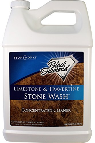 Black Diamond Stoneworks Limestone and Travertine Floor Cleaner: Natural Stone, Marble, Slate, Polished Concrete, Honed or Tumbled Surfaces. Concentrated Ph. Neutral.1 Gallon