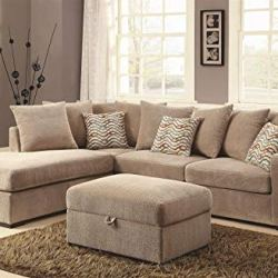 Coaster Home Furnishings Olson Reversible Sectional with Chaise Taupe