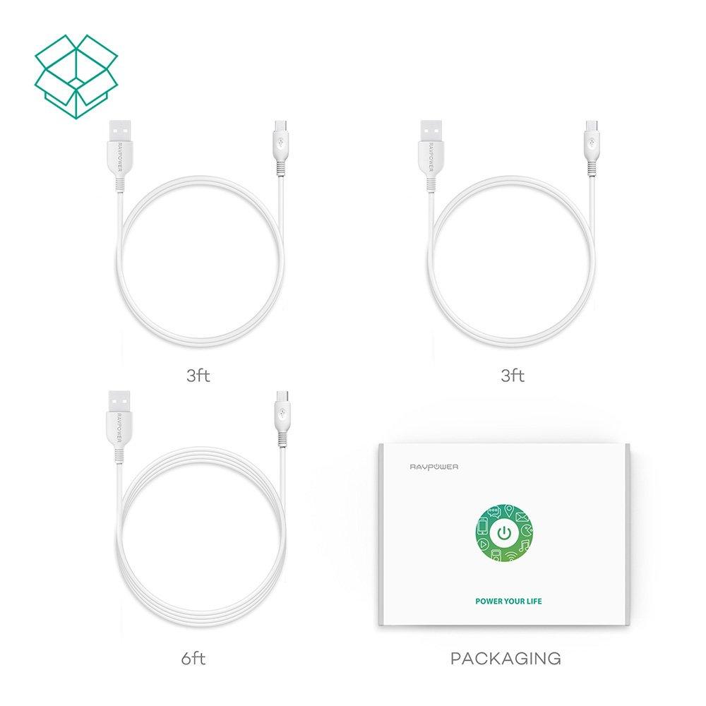 Cables USB MicroUSB de 0,9m y 1,8m