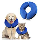Langxian Soft Protective Inflatable Pet Collar, Dog Recovery Collar for Surgery Adjustable Comfortable Pet E-Collar for Dogs, Designed to Prevent Pets From Touching Stitches (Small)
