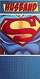 Hallmark Medium Slim Husband Contemporary Superman Foil Birthday Card