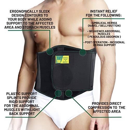 Ergonomic Umbilical Hernia Belt – Abdominal Binder for Hernia Support – Umbilical Navel Hernia Strap with Compression Pad – Ventral Hernia Support for Men and Women – Large/XXL Plus Size (42-57 in) deal 50% off 51ADeJ6AwOL