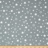 Kaufman Cozy Cotton Flannel Stars Grey Fabric By The Yard