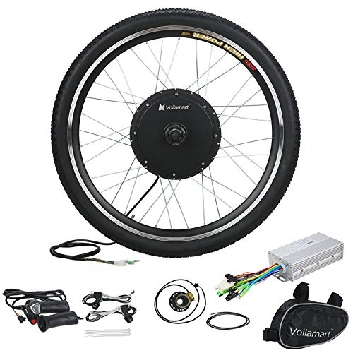 "Voilamart 26"" Front Wheel Electric Bicycle Conversion Motor Kit 36V 500W E-bike Cycling Hub"