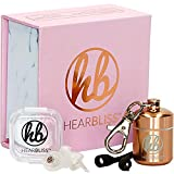 Womens High Fidelity Concert Earplugs - Ergonomic Small Ear Hearing Protection, Reusable Ear plugs with Never Lost Guarantee for Fitness, Musicians, Festivals, Nightclubs, Noise (PTSD Autism Tinnitus)