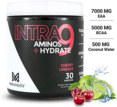 MDRN Athlete Intra9 | All 9 Essential Amino Acids EAA | 7 Grams | 2:1:1 Branched Chain Amino Acids BCAA | Keto | Recovery and Enhanced Hydration | Cherry Limeade (30 Servings) 11