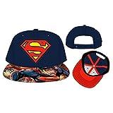 Marvel Superhero Avengers and Superman Logo Sublimated Adjustable Snapback Cap (Superman Logo)