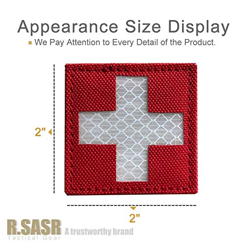 R.SASR Bundle 4 Pieces – Reflective Medic Patches, Tactical Medical Patches, Hook-Fastener Backing 2×2 inch (Mix) deal 50% off 51AM2Wzu2jL