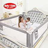 SURPCOS Bed Rails for Toddlers - 60' 70' 80' Extra Long Baby Bed Rail Guard for Kids Twin, Double, Full Size Queen & King Mattress (Gray) (1Side: 80''(L) X30''(H))
