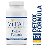 Vital Nutrients - Detox Formula - Specially Designed Formula for Liver and Detoxification Support - 120 Capsules per Bottle