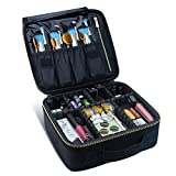 Travel Makeup Case,Chomeiu- Professional Cosmetic Makeup Bag Organizer,Accessories Case, Tools case (Black-M)