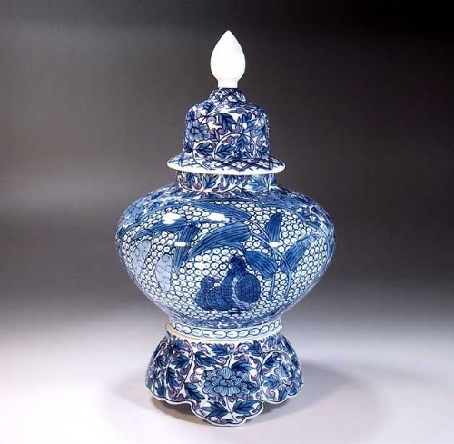 Arita - Imari | vase pottery , agarwood pot | luxury gifts | gift | gifts | Souvenirs | arabesque button Fujii NishikiAya