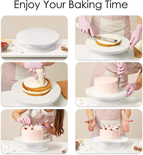 CG-INDIA-Cake-Combo-of-Cake-Making-Turn-Table-7-inch-Stainless-Steel-Spatula-12-Piece-of-Cake-Decoration-nozzles-with-Icing-Bag-and-3-Pieces-of-Dough-Scrapper