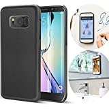 Samsung Galaxy S8 Case, CloudValley Anti Gravity Phone Case Magical Nano Can Stick to Glass, Whiteboards, Tile and Smooth Flat Surfaces [Black]