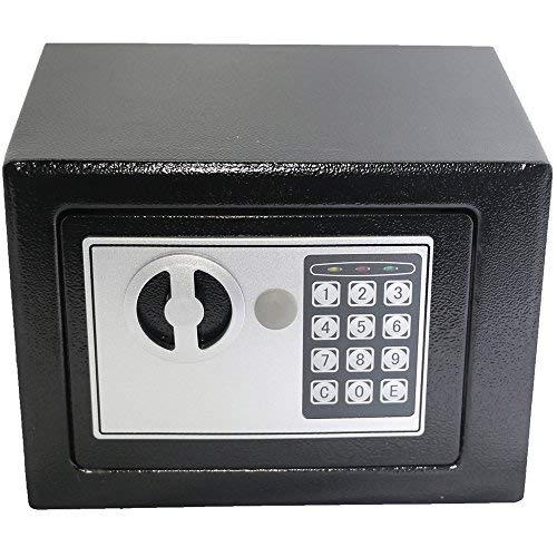 Electronic Deluxe Digital Security Safe Box Keypad Lock Home Office Hotel Business Jewelry Gun Cash Use Storage (Black 1)