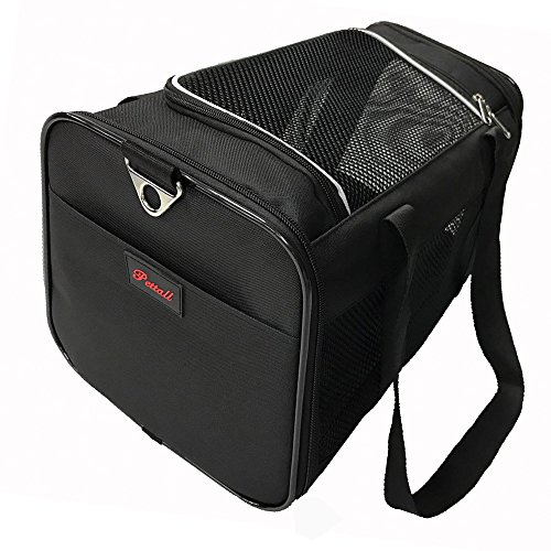 pettall Pet Carrier, 17.5 x 11 x 10.5 Inches Large Soft-Sided-Pet-Carrier for Small Dogs Medium Cats for 13 pounds